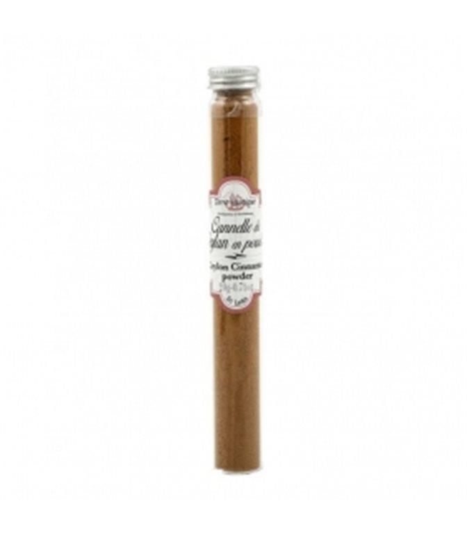 Ceylon Cinnamon Powder Tube 20gr. Terre Exotique. 12 pcs.