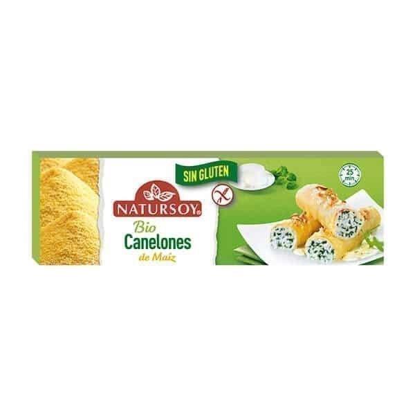 Canelones de maiz y arroz sin gluten Natursoy 250g