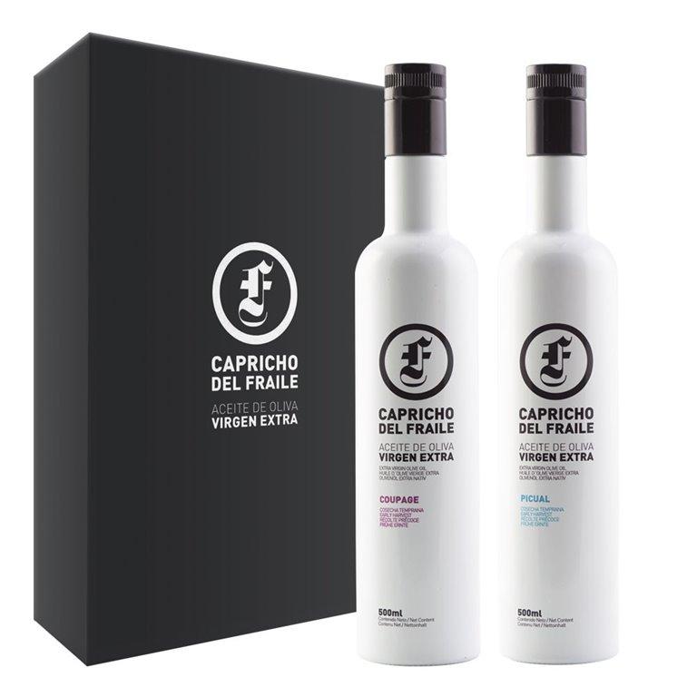 Capricho del Fraile - Coupage y Picual - Estuche 2 Botellas 500 ml