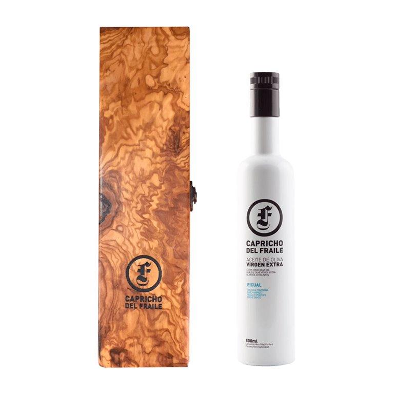 Capricho del Fraile - Picual - Estuche Madera Botella 500 ml