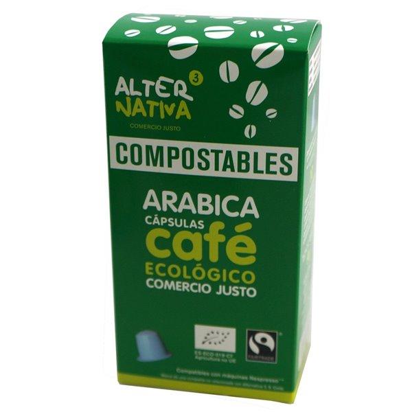 Cápsulas Compostables de Café Arábica Bio Fairtrade 10 Und.
