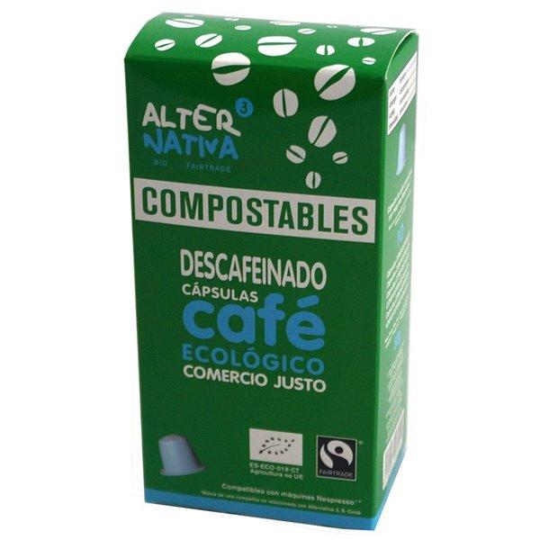 Cápsulas Compostables de Café Descafeinado Bio Fairtrade 10 Und.
