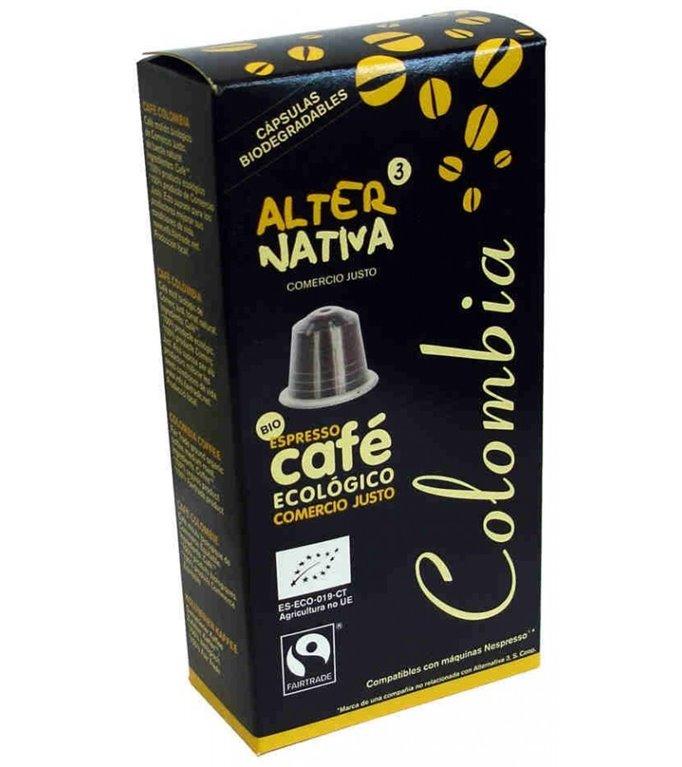Cápsulas de Café Colombia Bio Fairtrade 10 Uds.