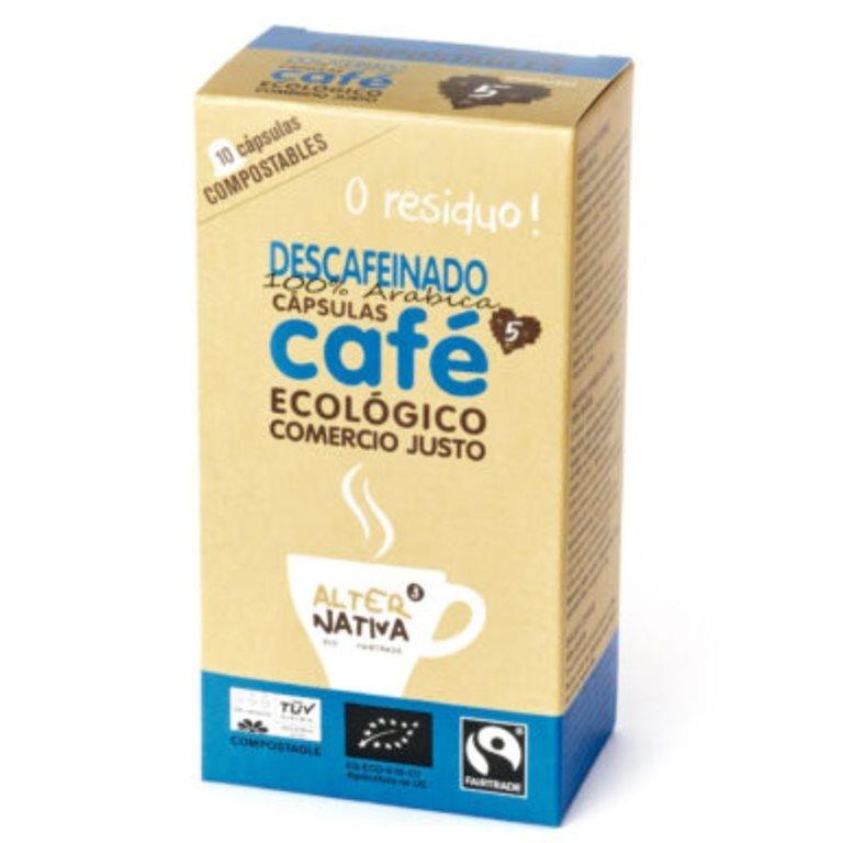 Cápsulas de Café Descafeinado Bio Comercio Justo 10 Uds.