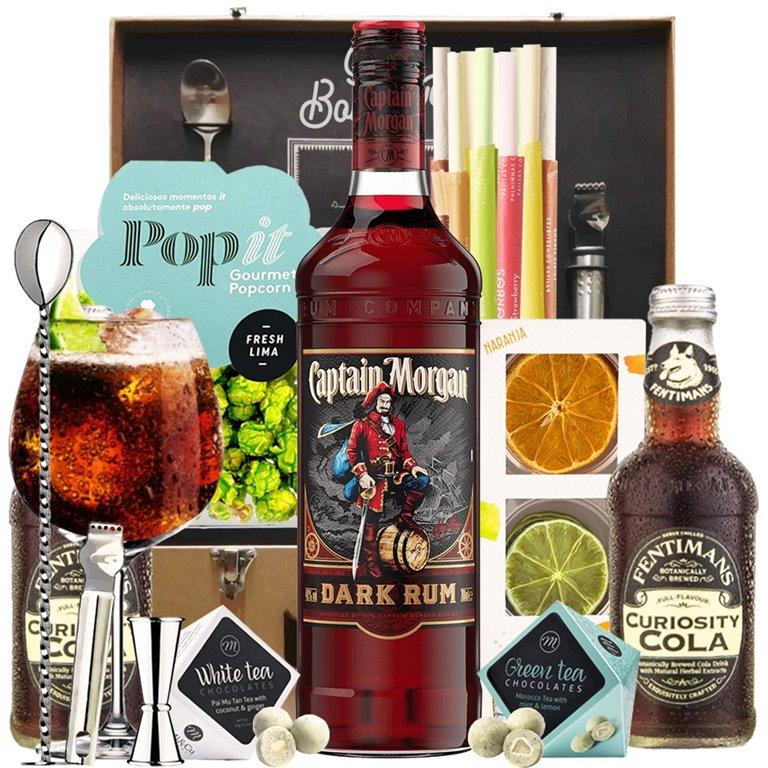 Captain Morgan Dark Rum Gift Kit