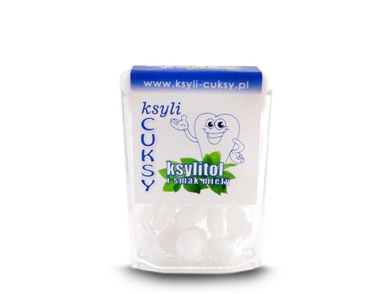 Caramelos de xilitol - sabor menta