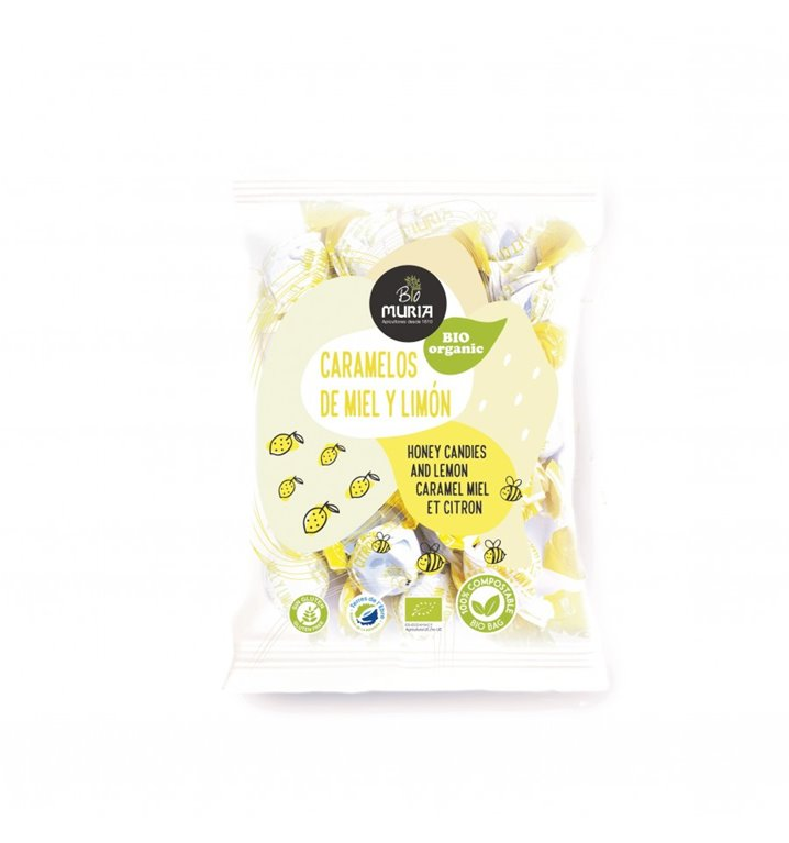 Ecological candies honey and lemon Muria 65grs