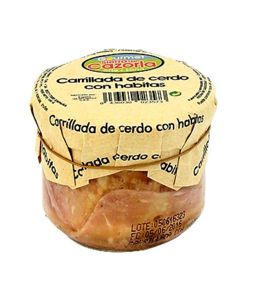 Carrillada de Cerdo con Habitas tiernas y Jamón. Caja de 9 x 240 gr.