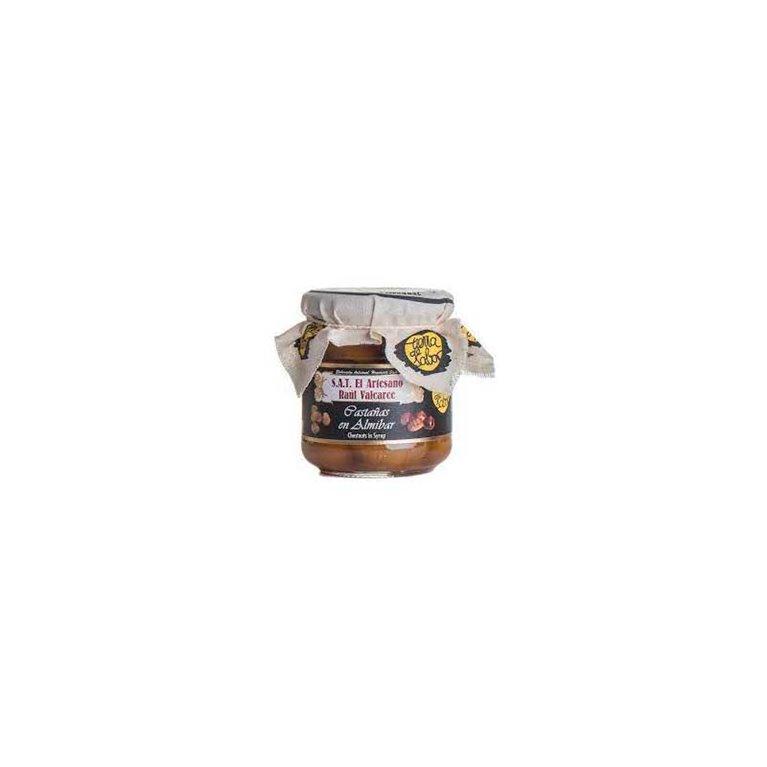 Castañas en almíbar. 275 gr, 1 ud