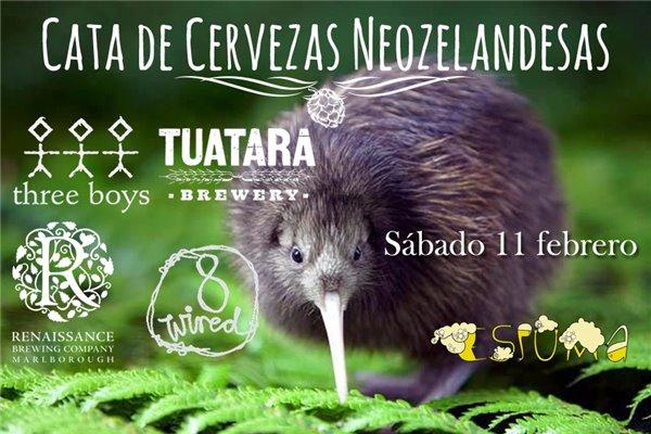 CATA DE CERVEZAS NEOZELANDESAS – 11 DE FEBRERO