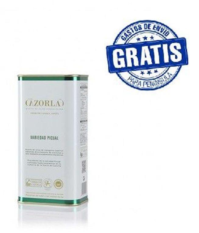 Cazorla. Aceite de oliva picual. 15 latas de 1 litro, 1 ud