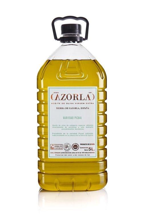 Cazorla. Aceite de oliva Picual. 4 envases de 5 litros., 1 ud