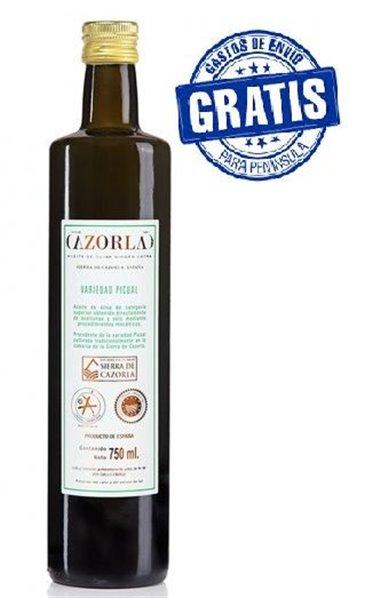 Cazorla. Aceite de oliva picual. Caja de 12 botellas