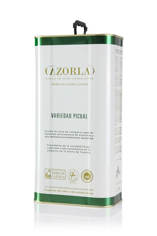 Cazorla. Aceite de oliva Picual. Lata de 5 litros, 1 ud