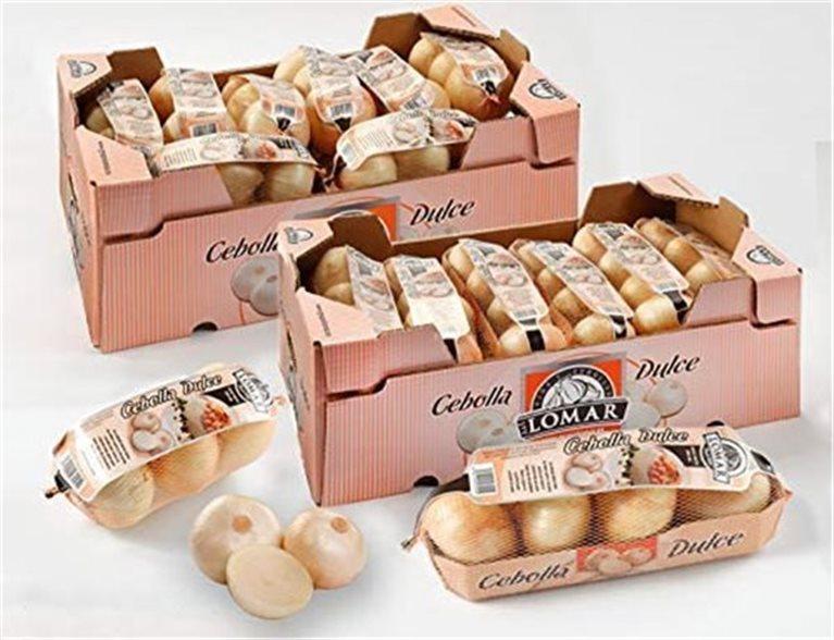 Cebollas dulces Lomar - caja 6 kg