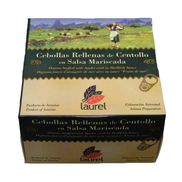 Cebollas Rellenas de Centollo en Salsa Mariscada