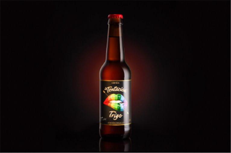 Cerveza artesana Tentación trigo. Edición orgullo (botella 33cl)