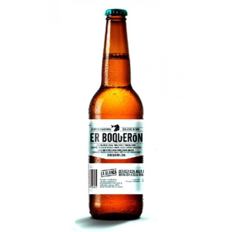 Cerveza Er Boquerón La Blanca con agua de mar, 1 ud