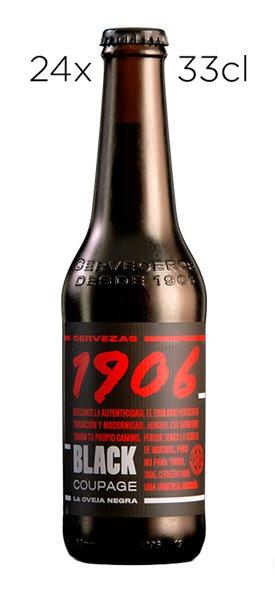 Cerveza Estrella Galicia 1906 Black Coupage. Caja de 24 tercios.