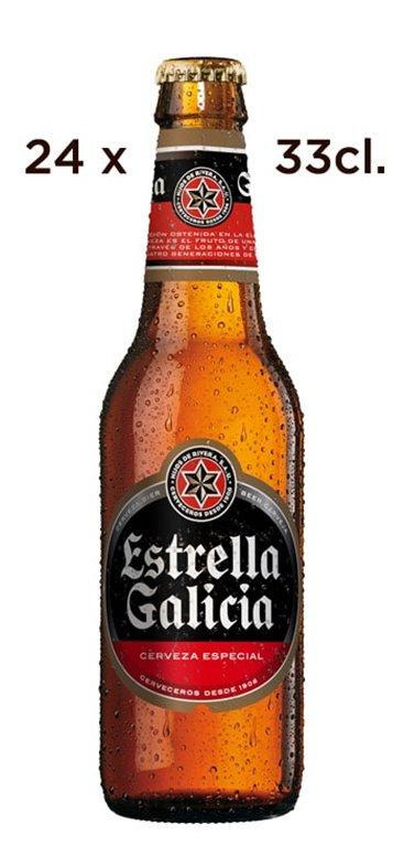 'Cerveza Estrella Galicia. Caja de 24 Tercios