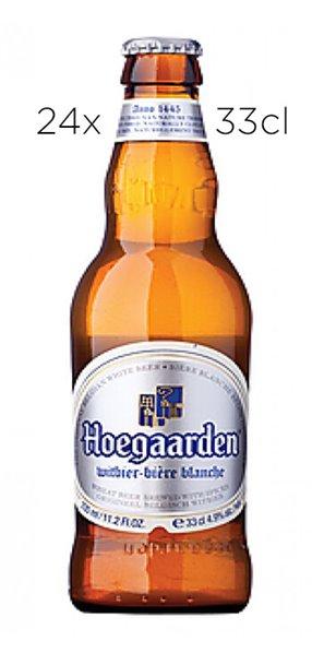 Cerveza Hoegaarden de Trigo. Caja de 24  tercios
