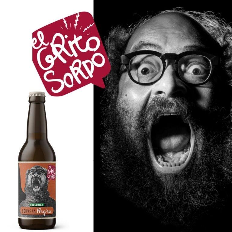 Cerveza NEGRA El Grito Sordo de Ignatius Farray