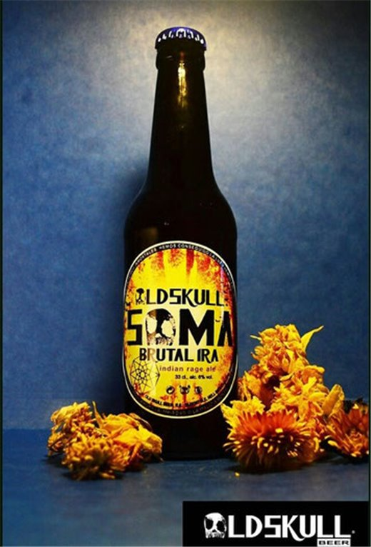 Cerveza Old Skull - Indian Pale. Caja 12 unidades 33cl. 5% alc.vol.