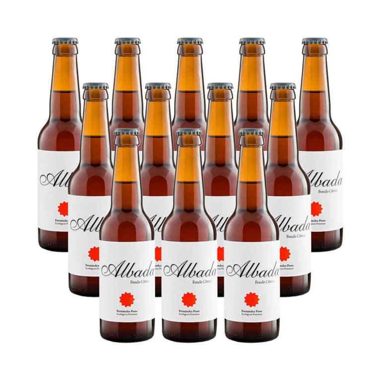 Cerveza rubia ecológica Albada - 12 botellas 33 cl