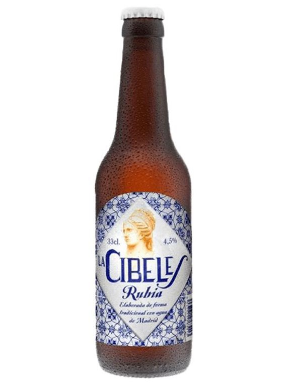Cerveza Rubia La Cibeles, 1 ud