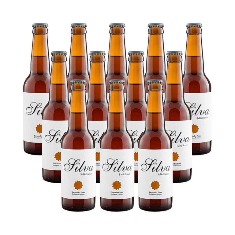 Roasted organic beer Silva - 12 bottles 33 cl