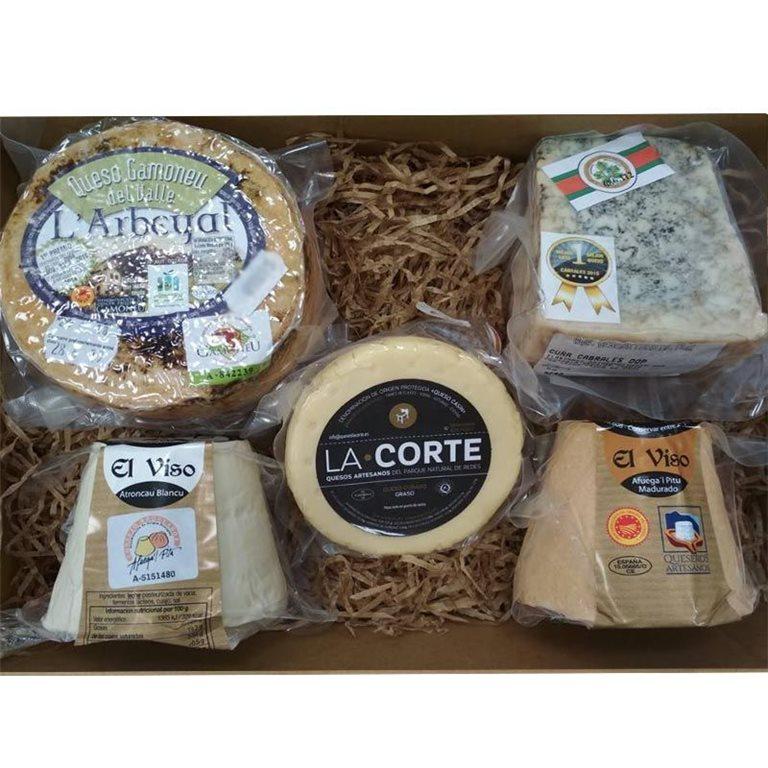 Cesta Gourmet Quesos DOP Asturias