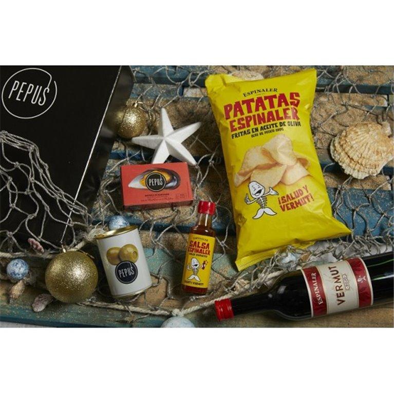 Cesta Navidad Ría Pepus 20 en Caja de Cartón, 1 ud
