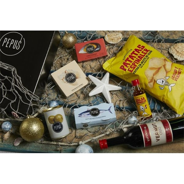 Cesta Navidad Ría Pepus 21 en Caja de Cartón