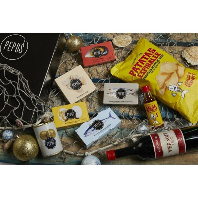 Cesta Navidad Ría Pepus 22 en Caja de Cartón, 1 ud