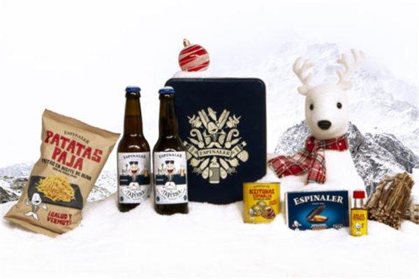 Cesto Navidad Cervezas 71 Espinaler