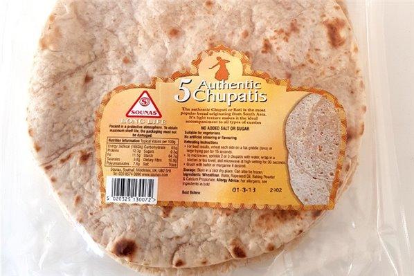 Chapati Roti 250g (5uds.)