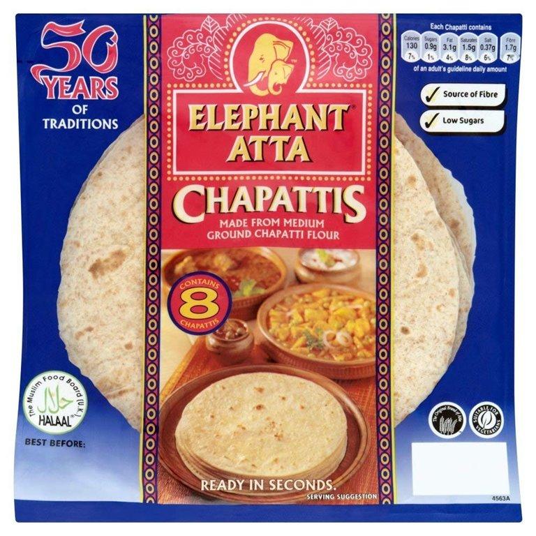 Chapattis Atta (Listos para Comer) 340g, 1 ud