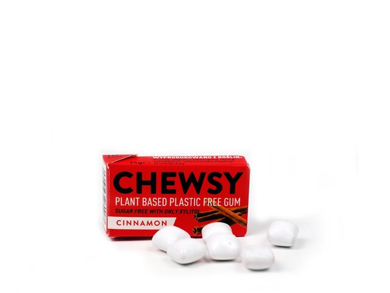 CHEWSY cinnamon chewing gum with xylitol 15g