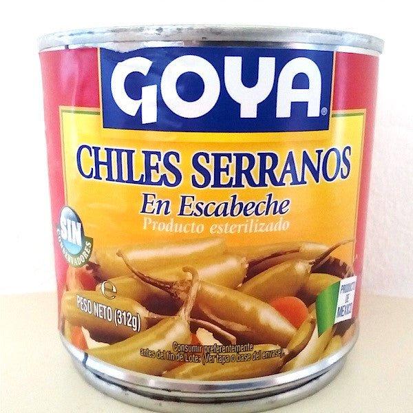 Chile serrano en escabeche