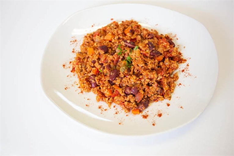 Chili with textured soy