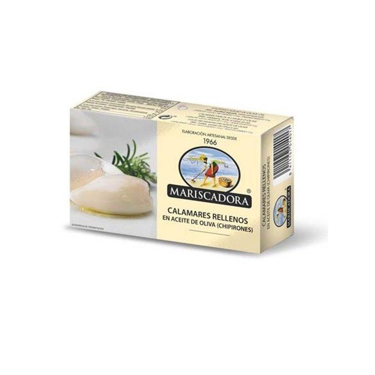 Chipirones Rellenos en Aceite de Oliva 6/8 Piezas Mariscadora, 1 ud