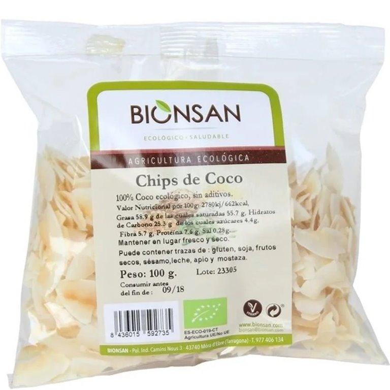 Chips de Coco Deshidratado Bio 100g