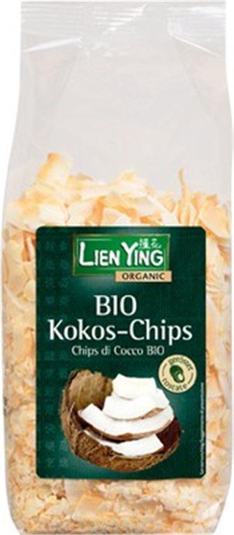 Chips de coco tostados, 150 gr