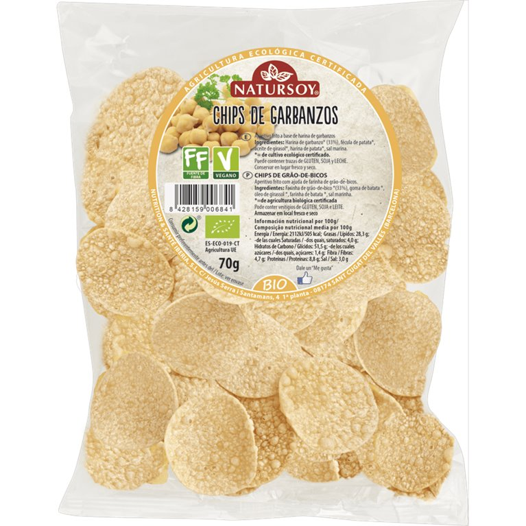 Chips de Garbanzos Bio 70g