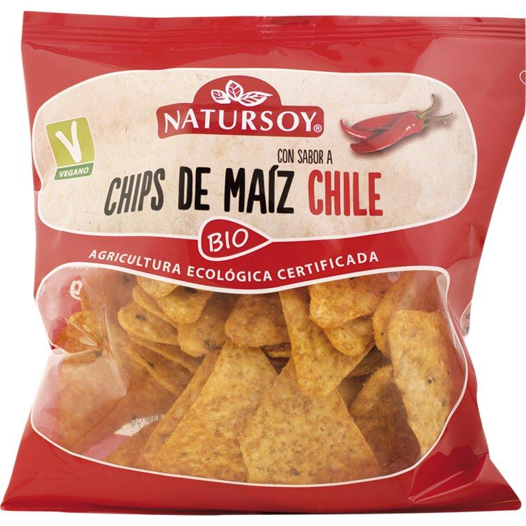 Chips de Maíz con Sabor a Chile Bio 75g