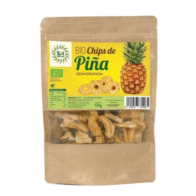 Chips de Piña Deshidratada Bio 125g, 1 ud