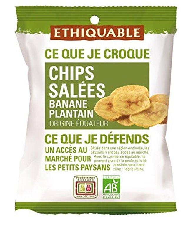 Chips de Plátano Salados Bio Fairtrade 85g