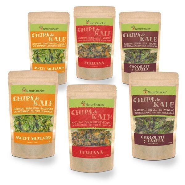 Chips Kale - surtido 6 bolsas