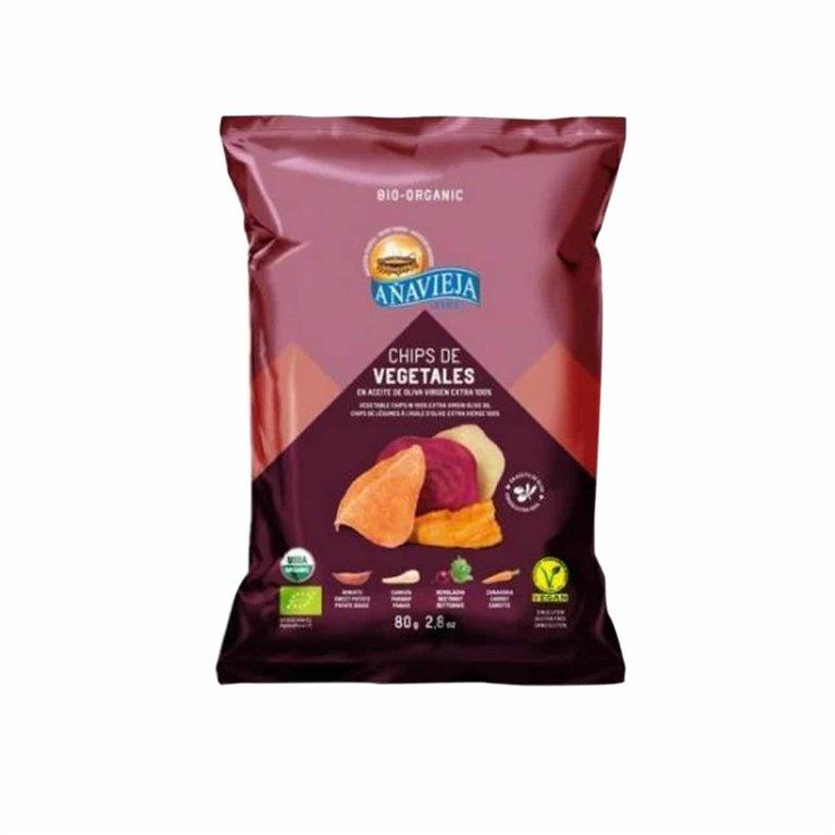 Organic Vegetable Chips Añavieja 80g