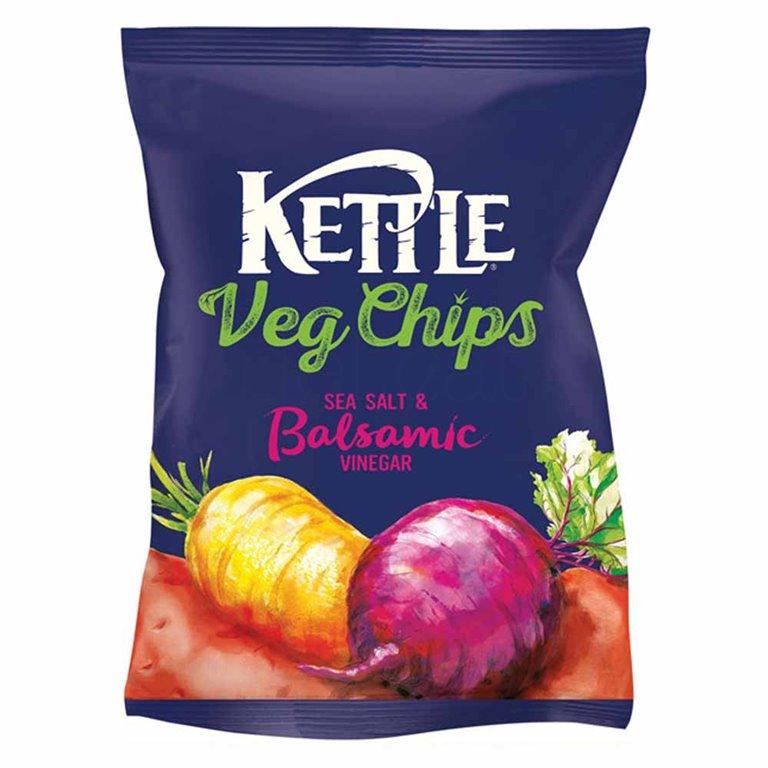 Chips Vegetales fritos con Sal y Vinagre Balsámico 100gr. Kettle Chips. 10un., 1 ud
